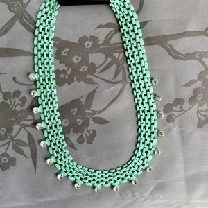 NEW Chain Link Rhinstone Necklace Forever 21 Mint